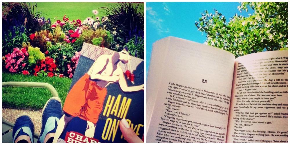 Prefiro ler Bukowski em parques, por alguma razão rs (fotos tiradas do meu Instagram @giovannasaba).
