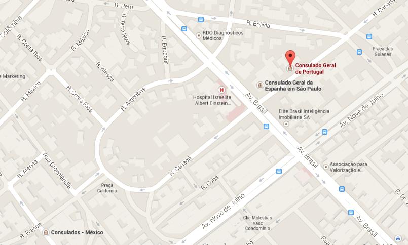 Consulado Português Google Maps
