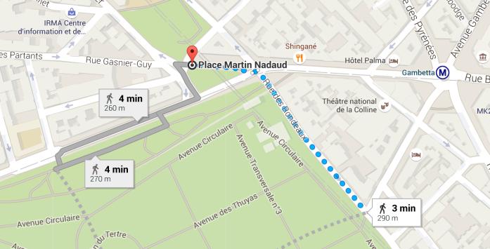Como chegar ao Cemitério Père Lachaise partindo da estação de metrô Gambetta